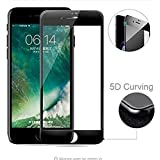 [Sponsored]Jazz Premium Quality Tempered Glass 5D Curved Edge 9H Hardness Ultra Clear Shatter Proof | Anti-Fingerprints & Oil Stains Coated Screen Guard Protector For Apple IPhone 7 Plus