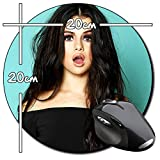 Selena Gomez H Tapis De Souris Ronde Round Mousepad PC