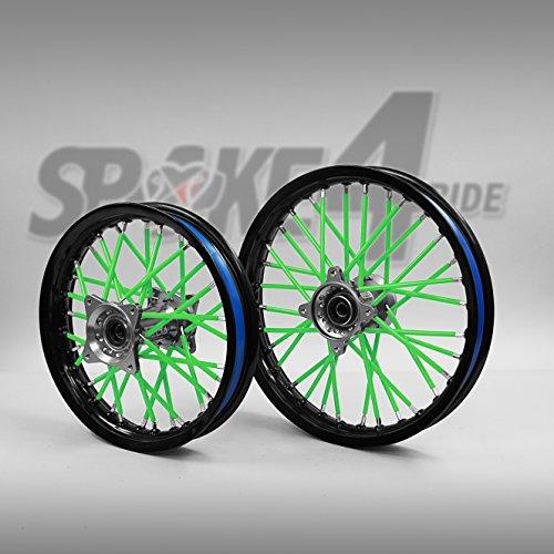 Speichencover Grün - Spoke Tubes - Speichen Cover - Speichen Überzug- Spoke Skins Motocross Enduro-Felgen Rad Motorrad