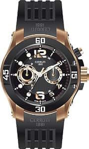 Cerruti 1881 Herren-Armbanduhr XL Mode Swiss Made Analog Kautschuk CRA011D224C