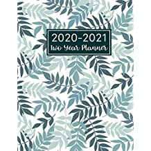 2020-2021 Two Year Planner: Floral Leaf Cover | 2 Year Monthly Calendar 2020-2021 Monthly | 24 Months Agenda Planner with Holiday | Therapy ... 2 Year Monthly Planner Jan 2020 - Dec 2021)