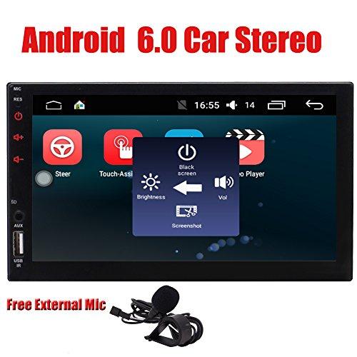 Doppel-DIN-Android 6.0 Quad CoreHead Einheit -EinCar 2 L?rm-Auto-Stereoanlage mit 7 '' Touch Screen GPS-Sat Navi Unterst¨¹tzung Navigationssystem Bluetooth 4.0 Autoradio Freisprecheinrichtung WIFI 4G Dongle FM AM RDS Radio-1080P Video Auto-Spieler