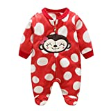 MEIHAOWEI Baby Strampler Warme Fleece Kleidung Set für Jungen Cartoon AFFE Infant Mädchen Kleidung Neugeborenen Overalls Baby Overall