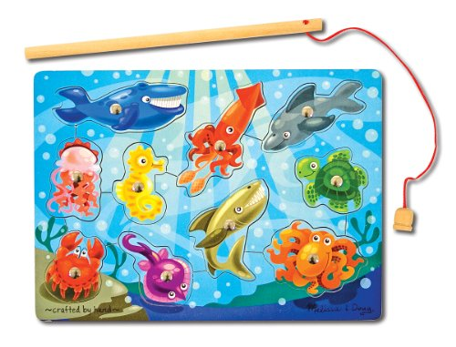 melissa-doug-magnetic-wooden-fishing-game-and-puzzle-with-wooden-ocean-animal-magnets