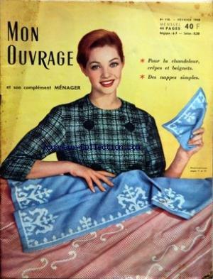 MON OUVRAGE [No 113] du 01/02/1958 - POUR LA CHANDELEUR - CREPES ET BEIGNETS - DES NAPPES SIMPLES