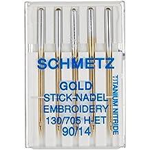 Euro-Notions Agujas para máquina de Coser Modelo Gold, Talla 14/90,