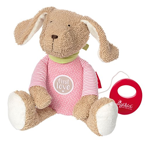 sigikid, Mädchen, Spieluhr, Stofftier Hund, Die rosa Fine, Beige/Rosa, 38784