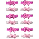 Dozen Pack Of 12 Toddler's Hairwrap In Poka Dots