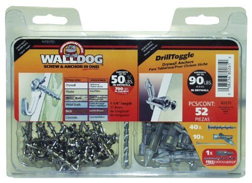 The Hillman Group 42071 WallDog and Drill Toggle Combo by The Hillman Group -