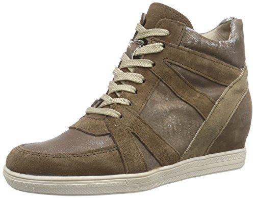 Tamaris - 25406, Sneaker alte Donna Marrone (Braun (BROWN COMB 360))