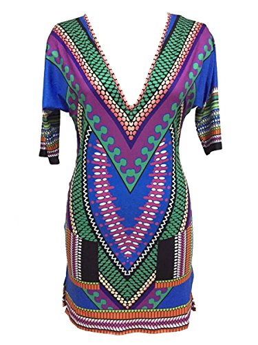Dissa® SY22453 femme sexy Robe vintage Multicolore