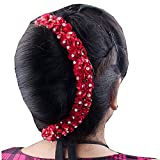 Majik Artificial Gajra Flower For Hair Bun, Red, 10 Gram, Pack Of 1 Amazon