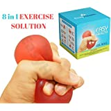 EasyHealth Gel Ball for Hand Exercise- Hand Grip Strengthener- Stress Relief Therapy- Non-Toxic BPA Free (Universal Size)