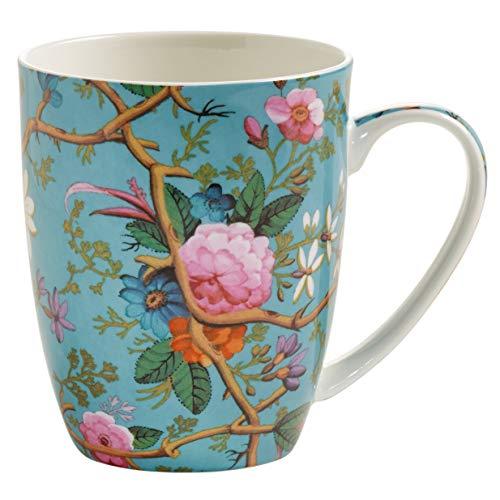 Maxwell & Williams Kilburn Kaffeebecher, Porzellan, Mehrfarbig, 12 x 8,5 x 10 Floral Becher