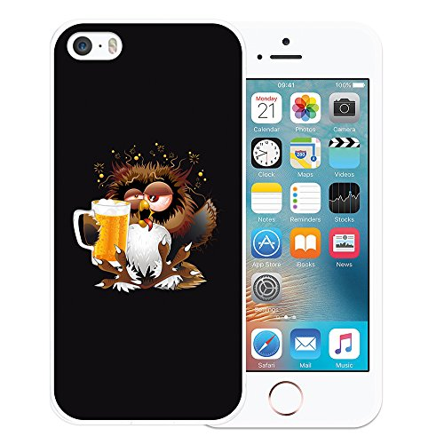 iPhone SE iPhone 5 5S Hülle, WoowCase® [Hybrid] Handyhülle PC + Silikon für [ iPhone SE iPhone 5 5S ] Husky-Hunde Sammlung Tier Designs Handytasche Handy Cover Case Schutzhülle - Transparent Housse Gel iPhone SE iPhone 5 5S Transparent D0294