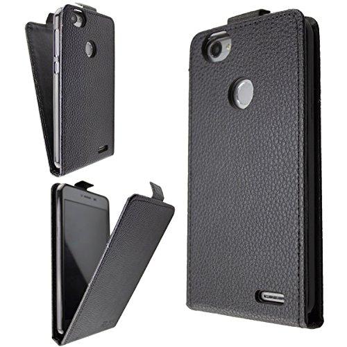 caseroxx Hülle/Tasche Flip Cover schwarz + Displayschutzfolie für Medion Life E5008 MD 60746, Set bestehend aus Flip Cover und Displayschutzfolie