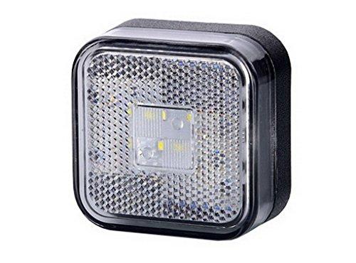 1 x 4 SMD LED Weiß Begrenzungsleuchte Seitenleuchte 12V 24V mit E-Prüfzeichen Umrissleuchte Anhänger Wohnwagen Auto LKW PKW KFZ Lampe Leuchte Licht