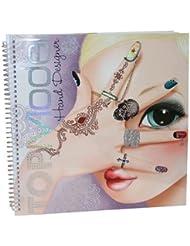 Libro para colorear con diseño de Top Model stickers HAND DESIGNER 24 x 28 cm