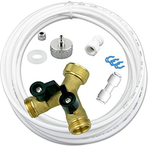 Wasserzulaufleitung Anschluss Set für Kühlschrank SBS, Wasch- Spülmaschine 10m Wasserschlauch 1/4
