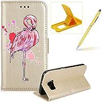 Mädchen Schönen Bling Glitzer Pink Flamingo Malerei Muster Hüllen Für Samsung Galaxy S6 Edge, Herzzer Rundum Schutz... preisvergleich bei billige-tabletten.eu