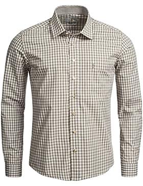 Almsach Trachtenhemd Slim Fit in Beige