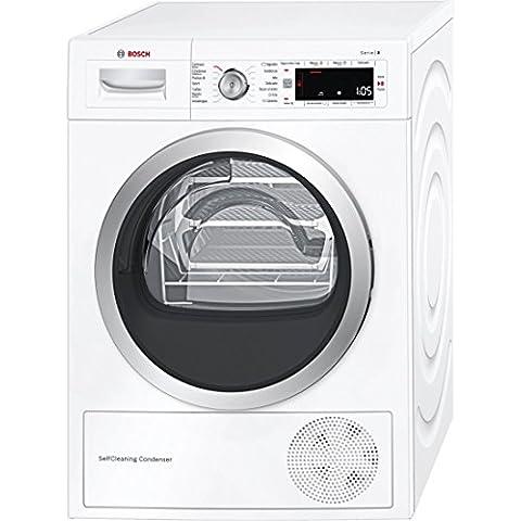 Bosch Serie 8 WTW845W0ES Independiente Carga frontal 8kg A+++ Color blanco - Secadora (Independiente, Carga frontal, Bomba de calor, A+++, Color blanco, B)