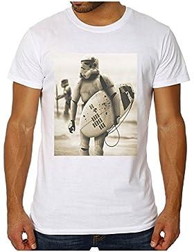 OM3 - Storm Trooper SURFING - Slim para hombre T-Shirt (Corte!)