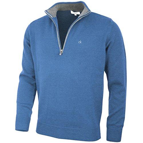 Calvin Klein Golf Herren Baumwollpullover - Denim - XL (Golf-pullover Blau)