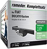 Rameder Komplettsatz, Anhängebock mit 2-Loch-Flanschkugel + 13pol Elektrik für FIAT DUCATO Kasten (136496-05631-3)