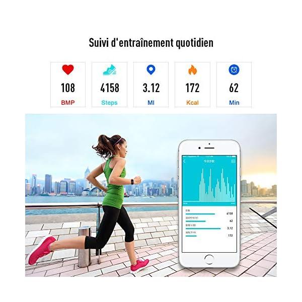 Fitpolo Pulsera de Actividad,Reloj Inteligente para Hombre y Mujer, IP68 Impermeable Reloj Deportivo con Rtmo Cardíaco… 4