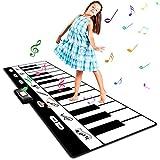Tappeto Musicale 180* 74 cm Piano Mat Tocca la tastiera Bambino Piano Playmat Strumento per bambini Ragazzi delle bambine 4 batterie AA incluse