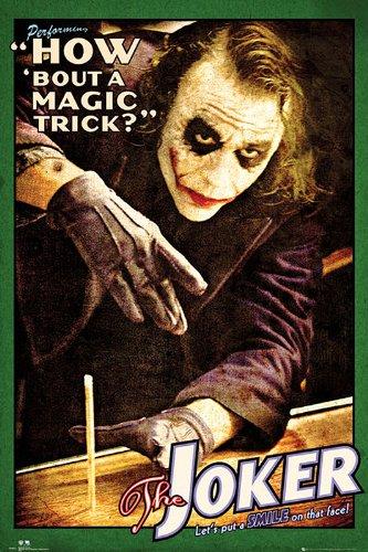 Poster Batman The Dark Knight Joker (Heath Ledger) (61cm x 91,5cm) + un poster Bora Bora en cadeau!