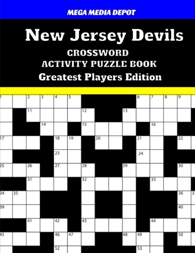 New Jersey Devils Crossword Activity Puzzle Book Greatest Players Edition