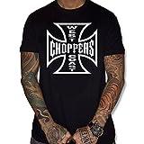 uraeus t-shirt west choppers coast (XL, NOIR)