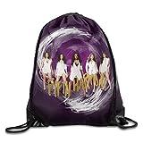 FTKLSS Lightweight Foldable Borsa morbida Creative Design Fifth Harmony Drawstring Backpack Sport Bag For Men And Women