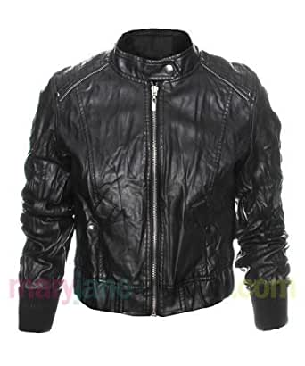 Womens Soft Faux Leather Jacket
