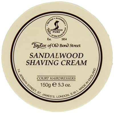 2 PACK - Taylors of Old Bond Street Shaving Cream 150g, Sandalwood by Taylor of Old Bond Street