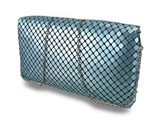 Zeckos - Borsetta senza manici donna Turquoise