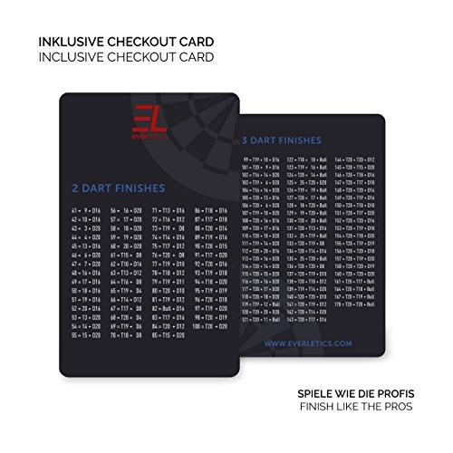 Everletics Dartboard mit Checkout Card