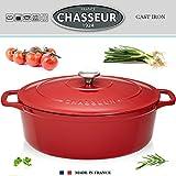 Chasseur - puc473503 - Cocotte ovale en fonte émaillée 35cm rouge sublime