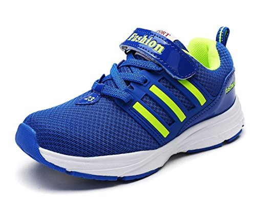 Boy's Mesh Breathable New Trend Outdoor Runing Shoes blue