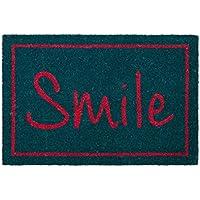 Dcasa - Felpudo con Diseño Smile 60 x 40 cm
