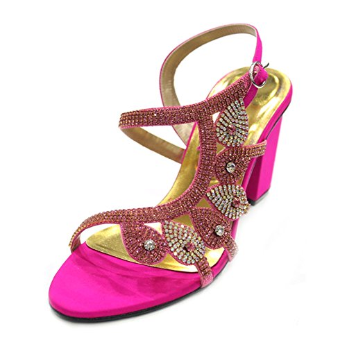 Wear & Walk UK , Damen Sandalen mehrfarbig mehrfarbig 36-42 Shocking Pink