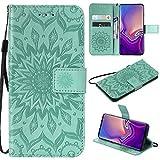 Business-Design Ledertasche für Xiaomi Mi 8 Lite Hülle / Mi8 Youth Handyhülle, Ledertasche Flip Handyhülle Stand Case (Green) TPU-Handyhülle. SF7