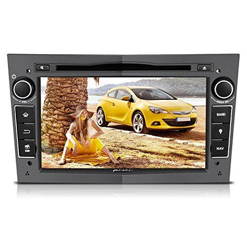 PUMPKIN Autoradio Moniceiver für Opel mit Navi Unterstützt Bluetooth CD VCD Rückfahrkamera Lenkradfernbedienung 2 Din