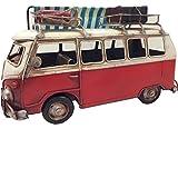 Giftworks Rot Camper Van Metall Modell mit Vorzelt