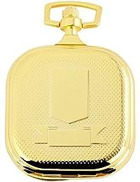 Tavo Lino Analog Reloj de bolsillo con cadena de metal 480702000004Oro Coloreado Carcasa en tamaño 45x 49mm x 13mm con esfera de color blanco y cristal mineral.
