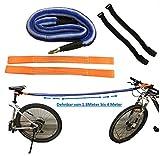 FAHRRAD ABSCHLEPP-SET , zum Ziehen / Abschleppen von Fahrrädern, E-Bikes, Mountainbikes, Rennräder, Kinder-Rad, Räder, Elektro-Fahrrad – funktionierendes durchdachtes Rad Zubehör - Geschützt