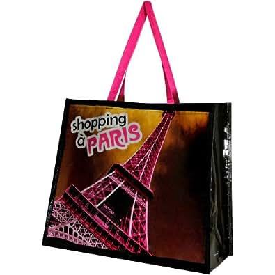 Paris -Sac Cabas Shopping Course Paris Chic Tour Eiffel Rose