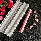 Leiyini Silikonformen Tube Seifenform Säulen-Kerzenformen für Handgemachte Seife, Gelee, Pudding, Kuchen Backwerkzeuge